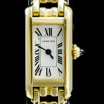 Cartier Tank Américaine occasion 14mm Champagne Or jaune