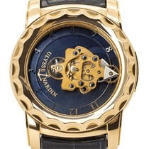 Ulysse Nardin Rose gold Manual winding Blue Roman numerals 44mm pre-owned Freak