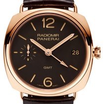 Panerai Radiomir 3 Days GMT Oro rosado 47mm Marrón Árabes