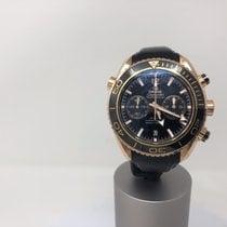 Omega Seamaster Planet Ocean Chronograph Ruzicasto zlato Crn