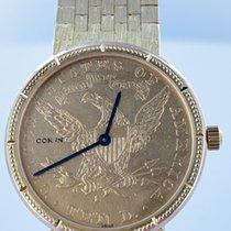 Corum Coin Watch Жёлтое золото 28mm Золотой Без цифр