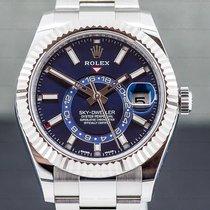 Rolex Sky-Dweller Сталь 42mm Синий Aрабские