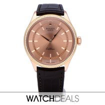 Rolex Cellini Time Rose gold 39mm Black No numerals