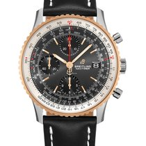 Breitling Navitimer Gold/Steel 41mm Black United States of America, Iowa, Des Moines