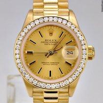 Rolex Lady-Datejust Gelbgold 28mm Champagnerfarben Keine Ziffern Deutschland, düsseldorf