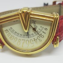 Jean d'Eve Geelgoud 30mm Quartz JEAN D'EVE MADE IN SWISS GOLD 18ct  CASE nieuw