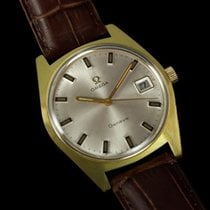 Omega 1970 Geneve Vintage Tropical Watch, Date - Gold Plated...