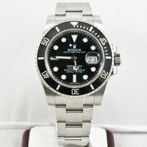 Rolex Submariner Date Сталь 40mm Чёрный Без цифр