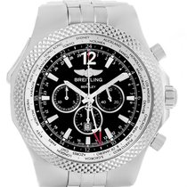 Breitling Bentley Gmt Black Dial Mens Watch A47362 Box Papers