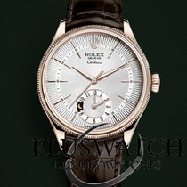 Rolex Cellini Dual Time Oro rosado 39mm Blanco Sin cifras