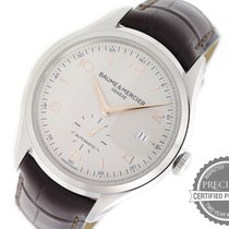 Baume & Mercier pre-owned Automatic 41mm Silver Sapphire Glass 5 ATM