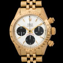 "Rolex Daytona 6265 ""albino Dial"" In 14k Yellow Gold"