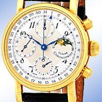 "Chronoswiss ""Lunar"" Chronograph Strapwatch."