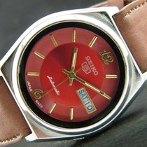 Seiko 5 Vintage Automatic Day Date deep red/bordeaux automatik