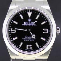 Rolex Explorer I Steel Black Dial 39MM, Full Set Automatic