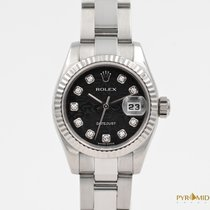Rolex Lady-Datejust Black Diamond Jubilee Dial White Gold