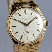 Patek Philippe Yellow Gold Calatrava 2526 with bracelet -...