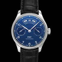 IWC Portuguese Annual Calendar Steel 44.20mm Blue