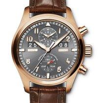 IWC Pilot Spitfire Perpetual Calendar Digital Date-Month Красное золото 46mm Cерый Aрабские