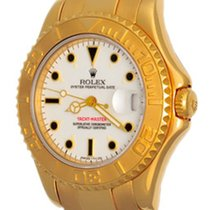 Rolex Yacht-Master occasion 35mm Blanc Date Or jaune