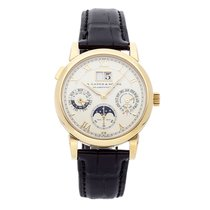 A. Lange & Söhne Langematik Perpetual Yellow gold 38.5mm Silver Roman numerals United States of America, Pennsylvania, Bala Cynwyd