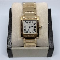 Cartier new Quartz 25mm Yellow gold Sapphire Glass