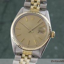 Rolex 16013 Zlato/Zeljezo 1980 Datejust 35mm rabljen