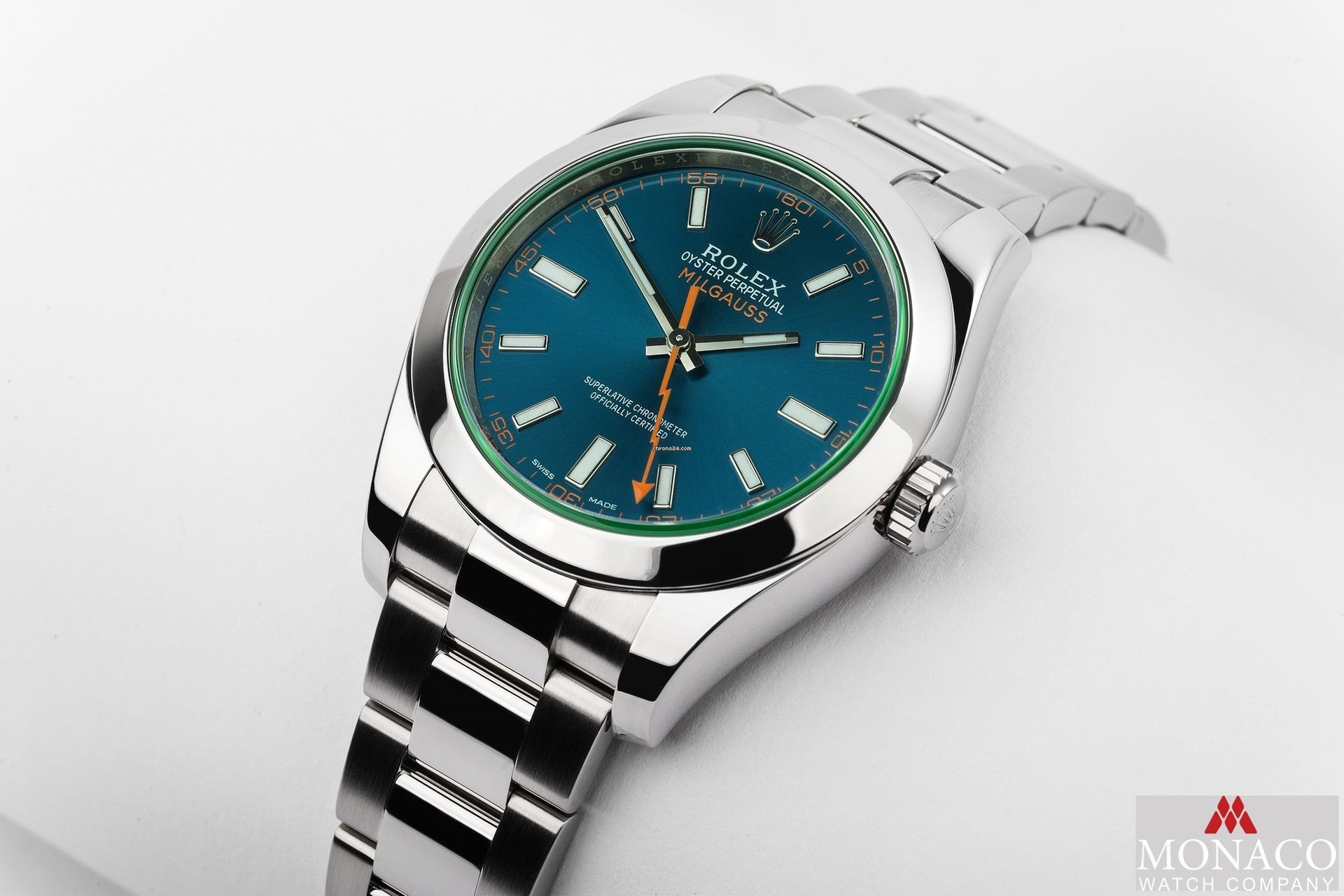 Rolex Milgauss Blue Dial With Box And Papers