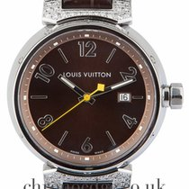Louis Vuitton Steel 39.5mm Quartz Q111G pre-owned United Kingdom, Wilmslow