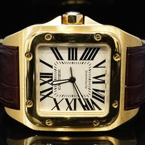 Cartier 2014 18ct Yellow Gold Santos 100XL, W20071Y1, Box &...