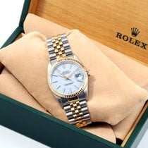 Rolex 1990s 18K/SS Datejust White Dial w/ Rolex Box & Papers...