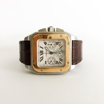 Cartier Santos 100 XL Chronograph Steel/Gold Fullset