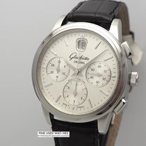 Glashütte Original Senator Chronograph pre-owned 39mm Silver Chronograph Crocodile skin