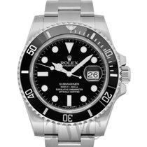 Rolex Submariner Date подержанные Чёрный Сталь