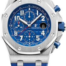 Audemars Piguet Royal Oak Offshore Chronograph Steel 42mm Blue Arabic numerals United States of America, Iowa, Des Moines