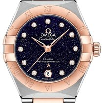 Omega Constellation Gold/Steel 29mm Blue