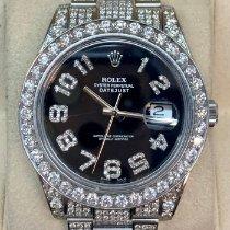Rolex Weißgold Automatik Schwarz Arabisch 41mm gebraucht Datejust II