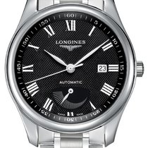 Longines Steel Automatic Black Roman numerals 40mm new Master Collection