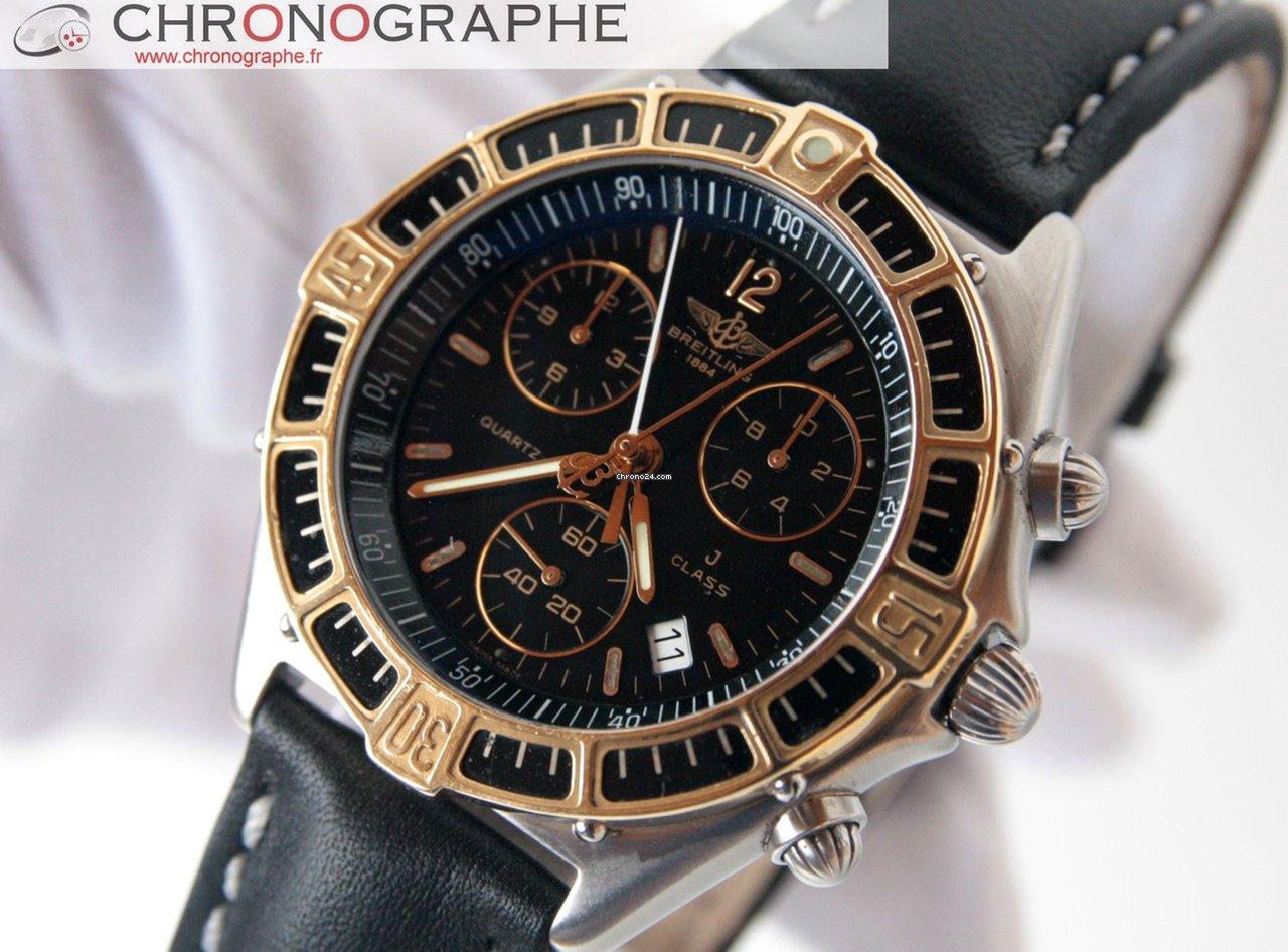 d13858812821b Breitling CLASSE J chrono Or et Acier Homme 1990 à vendre pour 1.555 € par  un Trusted Seller sur Chrono24