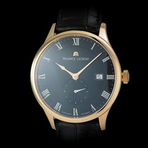 Maurice Lacroix Masterpiece Tradition 18K Rose Gold Date Black...