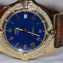 Breitling Gelbgold Quarz Blau Römisch 23mm gebraucht Callistino