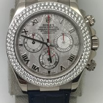 Rolex 116589 18k WG Daytona with Meteorite Roman Diamond Bezel