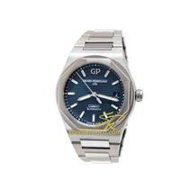芝柏  LAUREATO 38mm Steel Dial Blue Strap Steel 810051143111A