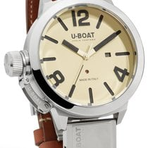 U-Boat Classico Beige Dial Brown Leather Men's Watch