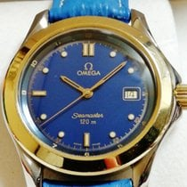 Omega Seamaster 120 Quartz 18K gold bezel mens 38mm
