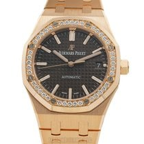 Audemars Piguet Rose gold Automatic Brown 37mm new Royal Oak Lady