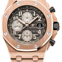 Audemars Piguet Rose gold Automatic Grey Arabic numerals 42mm new Royal Oak Offshore Chronograph