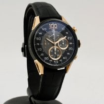 TAG Heuer Carrera Mikrograph Gold/Steel 43mm Black Arabic numerals