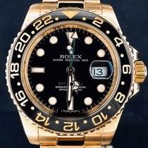 Rolex GMT-Master II Or jaune 40mm Noir Sans chiffres