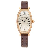 Cartier Tonneau Small Manual Rose Gold&Diamonds